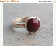 Natural ruby ring  Gemstone ring  July birthstone  by Studio1980