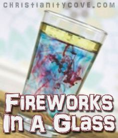 "What would 4th of July be without fireworks? The following science experiment will demonstrate how students can create ""fireworks"" that are safe and fun and will illustrate some basic tenets of our Christian faith."