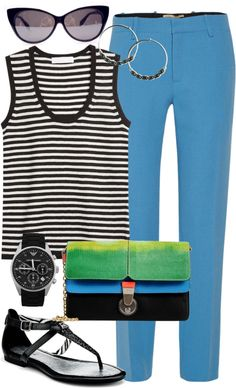 """stripes again"" by eleahs on Polyvore"