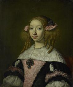 Adriana Jacobusdr Hinlopen  1667  Lodewijk van der Helst  I sincerely hope this hairstyle does not return.