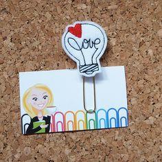 Felt Planner Clip | VALENTINE Light Bulb Bookmark | Paper Clip | Planner Accessory | Filofax | Magnet | Pin  This adorable felt is the perfect