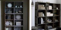 I really like these create bookshelves.