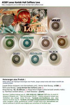 A1089 Lensa Kontak Hati Softlens Love Rp. 65.000