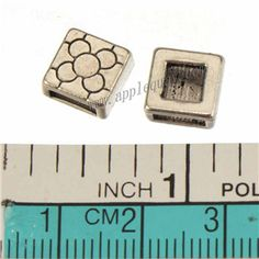 Zinc Alloy Square Slide Beads,Plated,Cadmium And Lead Free,Various Color For Choice,Approx 9*9*4.5mm,Hole:Approx 6.4*2.3mm,Sold By Bags,No 010228