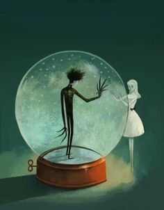 Edward scissorhands , Tim Burton art