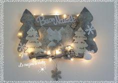 Fuoriporta natalizio su mini pallet con luci - le creazioni di kleopy