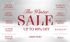 GO revamp your home with this amazing offer. #Winter Sale - Save Up to 80% Off On Sales. Stand a chance to win the products mentioned at  #TennisExpress. For More Visit http://www.mydealswallet.com/store/tennisexpress-coupon-codes.html