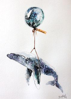 Far, Far Away X #nursery #illustration #art #whale