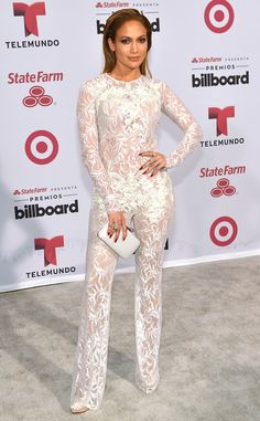 Jennifer Lopez Is White-Hot at the 2015 Billboard Latin Music Awards in a Seriously Sheer Jumpsuit—Take a Look!  Jennifer Lopez, Billboard Latin Music Awards