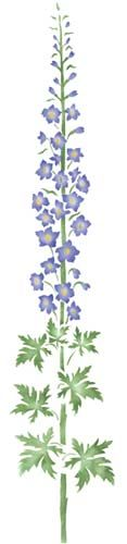 Large+Delphinium+Flower+Wall+Stencil