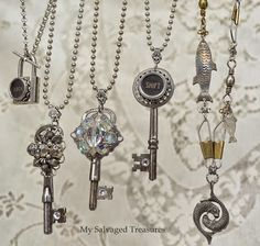 My Salvaged Treasures: {My Jewelry Creations}