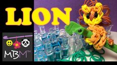 Rainbow Loom Pencil Hugger: Lion or Cat tutorial by Made By Mommy.
