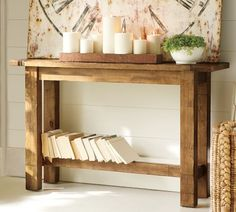 Hyde Console Table, Rustic Pine stain and other furniture & decor products. Rustic Console Tables, Rustic Table, A Table, Entryway Tables, Plank Table, Wooden Console, Rustic Wood, Furniture Upholstery, Home Furniture