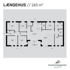 Plantegninger - byg din drømmebolig // Huscompagniet House Drawing, Sims House, Good House, Exterior Design, Planer, Building A House, Home Furniture, Architecture Design, House Plans