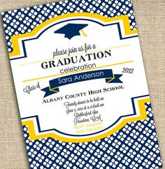 Graduation Announcement Invitation  PRINTABLE by ABlissfulNestShop, $18.00