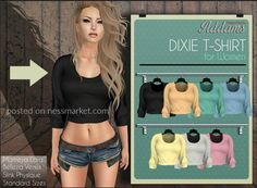 Dixie Shirt Free Second Life Group Gift. Feel free to get all of the gifts, plus the more recent one located at the store entrance.
