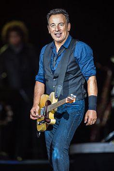 Bruce Springsteen tijdens Roskilde Festival in 2012