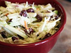 Cranberry Apple Coleslaw...very tasty, but I felt it might have benefited from just a bit of celery....8/22/2012