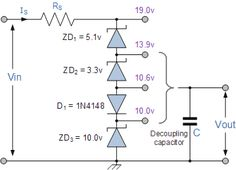 Back to back connected zener diodes can be used as an AC