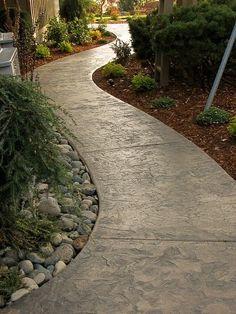 Inexpensive Stone Walkways And Types Gardens Walkways