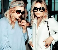 Obsessed with Ashely Olsen's sunglasses | Mary Kate and Ashley Olsen. Style to be inspired by.