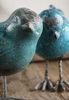ceramic love birds