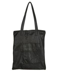 Rokit Recycled Black Leather Shopper Bag | Bags & Purses | Rokit Vintage Clothing