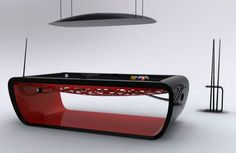 Billards Toulet unveils the BlackLight, a taylor-made ultra-modern luxury billard table. Lacquered or matte finishes or luxe gold edition, the BlackLight table has an integrated jukebox. It is made of non-deformable steel with an iron body frame, o