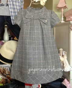 Gingersnaps Kids - Mayoral Baby Girls Grey Plaid Bow Dress (sz 3mo-24mo), $46.00 (http://www.gingersnapskids.com/products/mayoral-baby-girls-grey-plaid-bow-dress-sz-3mo-24mo.html) HEM