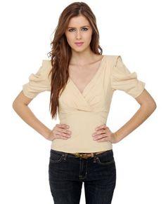 Where Art Thou Beige Top - Lulu.com