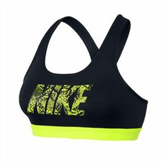 fb9a75c58d115 The Nike Pro Classic Logo Sports Bra features snug support ideal for medium-impact  sports like cycling