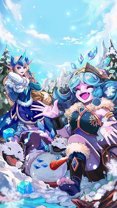 Snow Man Yi, Winter Wonder Soraka & Neeko HD Wallpaper Background Official Art Artwork League of Legends lol League Of Legends Poppy, League Of Legends Characters, Lol League Of Legends, Game Character, Character Design, Liga Legend, Fanart, Demon Art, Winter Wonder