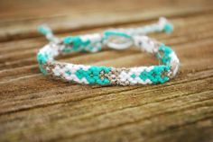 Aqua Silver and White Diamond Friendship by delightfullycreated7, $5.00