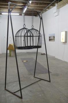 La cage*s - by Wendy Vachal // ESADMM #wendyvachal #art #artist #sculture #birdcage #cage More on www.gojiki.com  BROWSE ART Cage, Contemporary Art, Artist, Design, Home Decor, Decoration Home, Contemporary Artwork, Modern Art, Interior Design