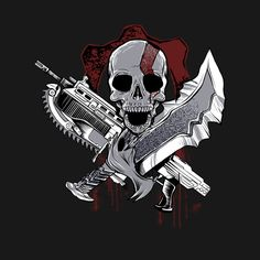 Skull Logo, Skull Art, Samurai Mask Tattoo, Graffiti Wildstyle, Ninja Logo, Video Game Logos, Kratos God Of War, Game Wallpaper Iphone, Jordan Logo