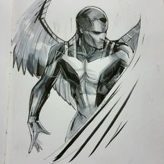 Drawing Marvel Comics Archangel nycc special edition by Peter v Nguyen - Marvel Comic Character, Comic Book Characters, Marvel Characters, Comic Books Art, Arte Dc Comics, Marvel Comics Art, X Men, Hq Marvel, Archangel Gabriel