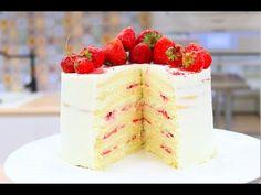 Торт Молочная Девочка / Бисквитный Торт с Клубникой / Sponge Cake Recipe - YouTube