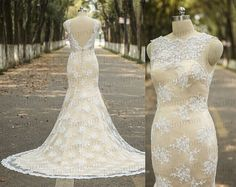 Hey, I found this really awesome Etsy listing at https://www.etsy.com/listing/233924875/vintage-wedding-dresshandmade-lace