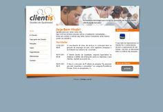 Criação do Layout e HTML / CSS / PHP para a empresa Clientis Gestão de Qualidade. Agência: Wdesign e Associadoss