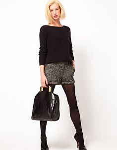 tweed shorts