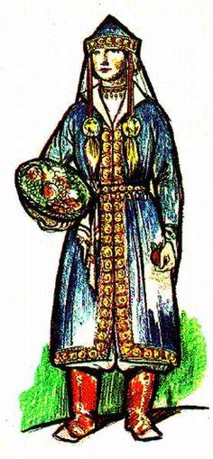 Honfoglalás kori női viselet 1. Historical Costume, Samurai, Craft Projects, Culture, History, Hungary, Warriors, Art, Watercolor