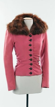 Elsa Schiaparelli | Jacket F/W 1938-39,  House of Schiaparelli. Wool, fur, plastic, The Metropolitan Museum of Art | @ Mlle