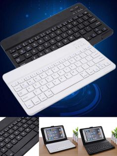 [Visit to Buy] Universal Mini Bluetooth Wireless Slim Keyboard for iPad Galaxy Tabs IOS&Android Windows Tablets/Desktop Hot Selling #Advertisement