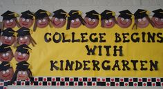 classroom, kindergarten bulletin boards, bulletinboard, kindergarten graduation, graduation ideas, kindergarten blogs, colleg, teach, preschool