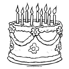 Birthday Cake Coloring Page Click on Image to Open up Coloring
