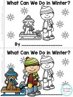 FREE High Frequency Word minibook for winter! Perfect for Preschool & Kindergarten readers!