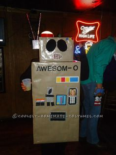 Awesome Awesom-O Costume from South Park... This website is the Pinterest of costumes