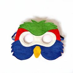 Kids Parrot  Mask, Bird Mask,  Kids Halloween, Carnival, Dress up Costume Accessory, Pretend Play Toy for Girls Boys, Toddlers