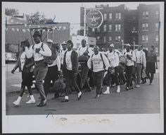 Members of the Congress of Racial Equality leaving Brooklyn en route to the March on Washington, on April At Lawrence Cumberbatch (fourth from left, in back wearing a white hat) was the group's youngest member. History Photos, Us History, History Facts, Black History, Ap Language, Literary Travel, Racial Equality, Library Of Congress, Colors