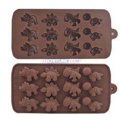 Chocolate Mold, 12 DINOSAURS Silicone Mold Tray for Cake / Chocolate / Candy / Jelly / Ice / Cookie | Meritline.com